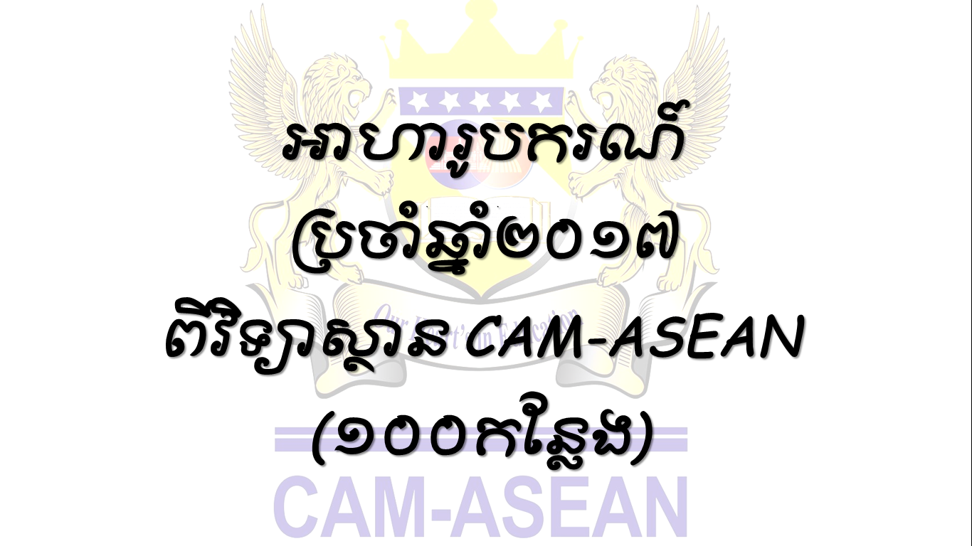 Scholarship from Cambodia ASEAN International Institute